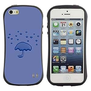 LASTONE PHONE CASE / Suave Silicona Caso Carcasa de Caucho Funda para Apple Iphone 5 / 5S / Purple Rain Minimalist Emo