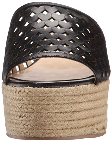 Nine Leather West Ertha Black Wedge Women's Sandal qq7vBrR