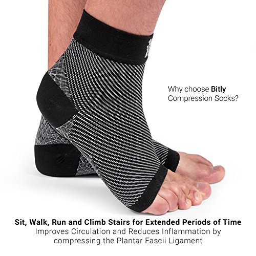 Bitly FBA_PFB_S_1101 Plantar Fasciitis Socks (1 Pair) Premium Ankle Support Foot Compression Sleeve (Small) by Bitly (Image #4)