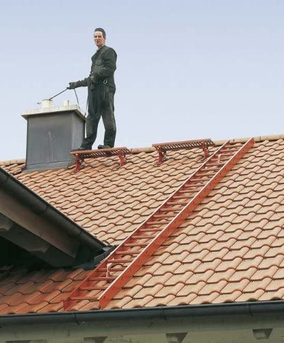 ZARGES Dachleiter 2,8 m Anthrazitgrau 10 Sprossen Z300