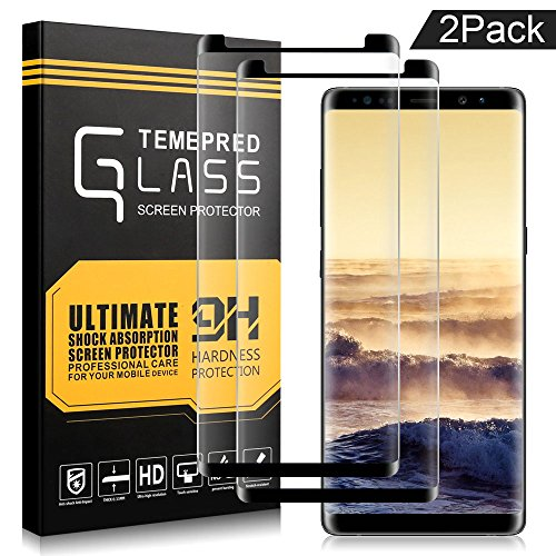 Airsspu Premium Full Coverage,Samsung Galaxy Note 8 Screen Protector, HD Clear Film Tempered Glass Screen Protector( 2 Pack )