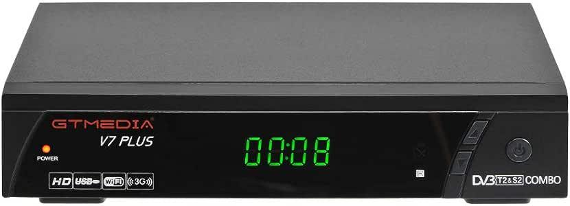 GT MEDIA V7PLUS Decodificador TDT Receptor de TV por Terrestre Decodificador Satélite DVB-T/T2 DVB-S/S2 con Antena WiFi USB 1080P Full HD H.265 HEVC MPEG-2/4: Amazon.es: Electrónica