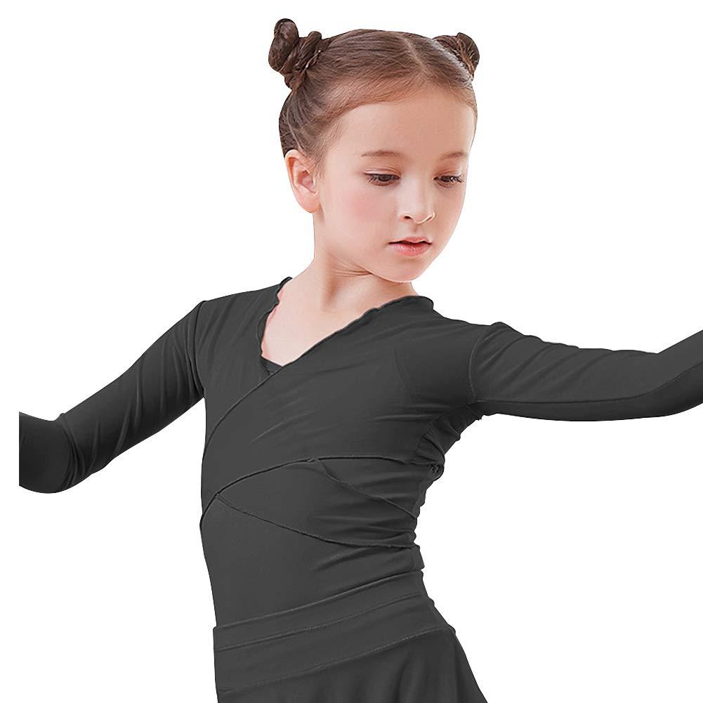 Lisianthus Girls Classic Ballet Wrap Top Sweater Long Sleeve