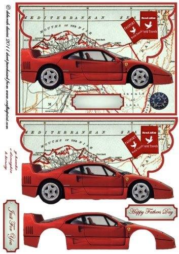 Dads Ferrari busta di by Deborah Davies Craftsuprint