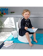 ToyLet® Toilet Training Potty for baby or toddler with comfy toilet seat, cover, flushable wipes storage & paper roll holder, potty training for Girls & Boys WHITE