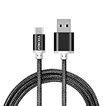 Full Speed USB Type-C Charge & Data Sync Cable for Google Pixel/Pixel 2/Pixel XL/Pixel 2 XL/Sony Xperia XA2 Ultra XZ Premium XZ2 Compact Nylon Braided USB Charger Cord (1 Meter, Black)