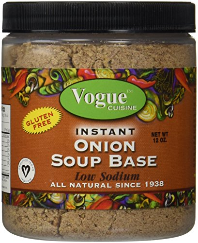 Vogue Cuisine Onion Soup & Seasoning Base 12oz - Low Sodium, Gluten Free, All Natural Ingredients