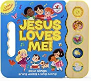Jesus Loves Me 5-Button Songbook - Perfect Gift for Easter Baskets, Christmas, Birthdays, Baptisms, and More,