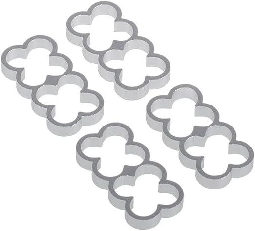 Alphacool 24771 Eiskamm Alu X8-4mm Silver 4 pcs Modding Eiskamm