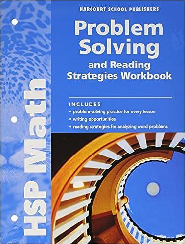 Book HSP Math: Problem Solving and Reading Strategies Workbook Grade 6