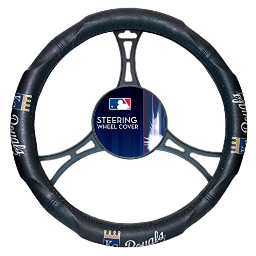 Royals OFFICIAL Major League Baseball, Steering Wheel Cover (Made to fit 14.5-15.5 steering wheels) by Northwest Official