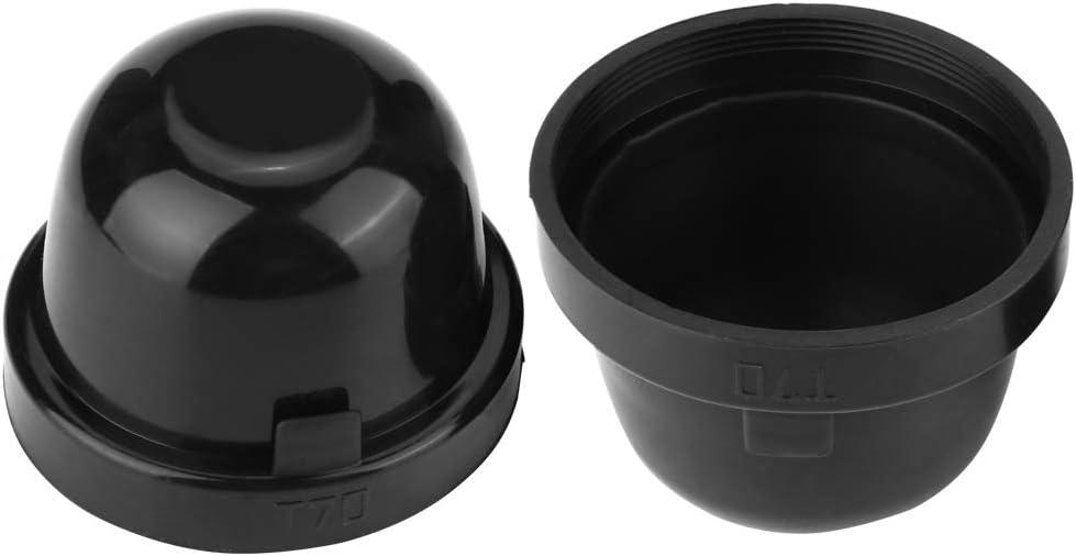Headlamp Waterproof Cap 2Pcs 70mm Car LED Bulb Headlight Rubber Waterproof Dustproof Sealing Cover Cap