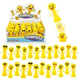 Jumping Emoji Popper Spring Launchers Toys - Cute Bouncy Party Favors for Kids - Unique Stress Relief Squishy Mini Toys - Party Supplies and Goodie Bag Fillers - 24 Figurines in a Beautiful Display Box