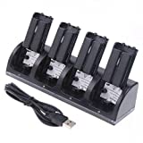 Best Wii  Chargers - Kobwa 4 in 1 Wii Remote Controller Charging Review