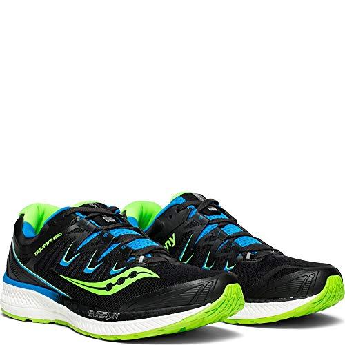 Saucony Men's Triumph ISO 4 Sneaker, Black/Slime/Blue, 095 M US