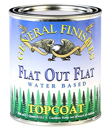 General Finishes Flat Out Flat Topcoat, Quart by General Finishes