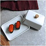 Best Le Creuset Butter Dishes - Christmas White Ceramic Sushi Small Dish Fruit Compote Review