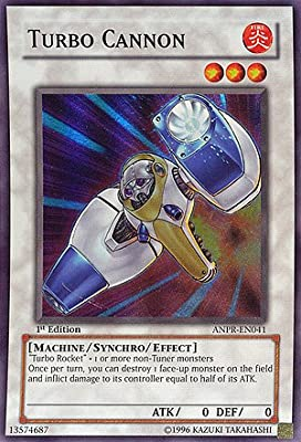 Amazon.com: Yu-Gi-Oh! - Turbo Cannon (ANPR-EN041) - Ancient Prophecy - 1st Edition - Super Rare: Toys & Games