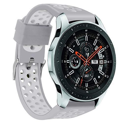 Hombre Mujer Reloj Banda De La Correa De La Pulsera del SilicóN De Los Deportes del Doble Color para El Reloj De Samsung Galaxy 54M M: Amazon.es: Relojes