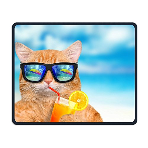 ZhiqianDF Cat Wearing Sunglasses Relaxing In The Sea Waterproo Mouse - Sunglasses Yoko