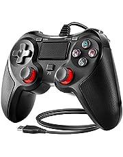 BuFan PS4 Controller, USB Joystick a Doppia Vibrazione Shock con 1,5 M USB Cavo per PC Playstation 3/4 / PS4 Slim / PS4 Pro