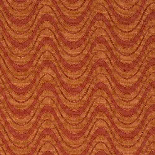 Lava Orange Spice Geometric Abstract Stripes Contemporary Modern Matelasse Wovens Upholstery Fabric by the yard