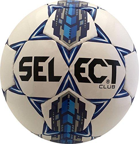 (Select Club Soccer Ball, White/Royal Blue, 5)