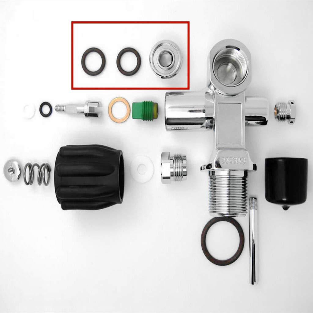 Tank Valve Converter Adapter G5//8 Thread Prettyia Premium Scuba Valve Outlet DIN Plug Adapter