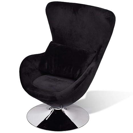 Amazon.com: vidaXL Swivel Egg Chair with Cushion Velvet ...