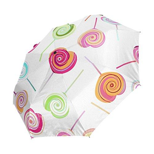 bennigiry resistente al viento paraguas de viaje Lollipops dulces AUTO abrir Cerrar Plegable fuerte compacto paraguas, mujer, Multi#001, talla única: ...