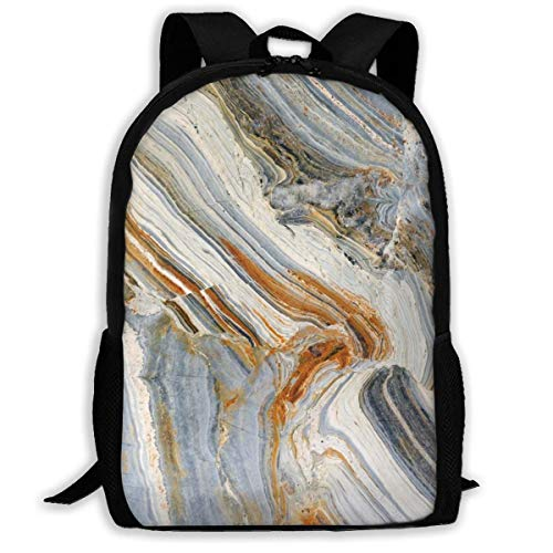 Stylish Children's School Backpacks Colorful Stone Rock Marble Travertine Nature Pattern Adjustable Shoulder Straps Elementary Daypack For School/Hiking/Shopping/Climbing/Yoga/Beach