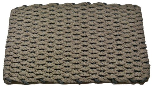 Rockport Rope Doormats 225 Indoor and Outdoor Doormats, 20 by 30-Inch, Tan with Two Stripes