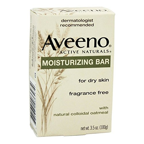 Aveeno Moisturizing Bar with Natural Colloidal Oatmeal for Dry Skin, Fragrance Free, 3 Oz (Fragrance Oatmeal)