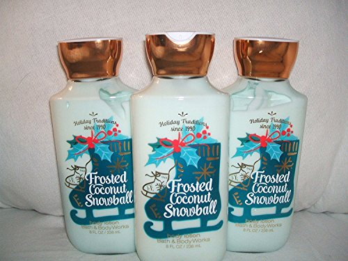 Bath & Body Works FROSTED COCONUT SNOWBALL ( set of 3 ) body lotion