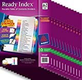 Avery Ready Index(R) Table of Contents Dividers 26 Tabs, A-Z, Case Pack of 12 Sets (11125)