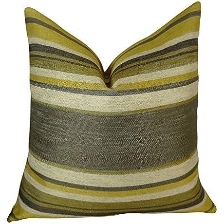Plutus Brands Plutus Ocosingo Zest Handmade Throw Pillow 20 X 36 King Gray Citrine Ivory