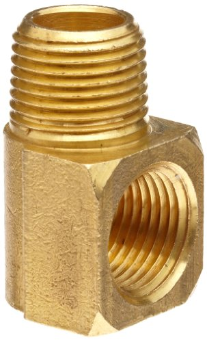 "Anderson Metals Brass Pipe Fitting, 90 Degree Barstock Street Elbow, 3/4"" Male Pipe x 3/4"" Female Pipe"