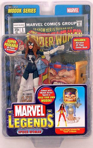 510HnSYVDeL Marvel Legends Series 15 Action Figure Spider-Woman Julia Carpenter Variant (Modok Build-A-Figure)