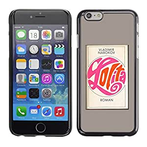 Shell-Star Arte & diseño plástico duro Fundas Cover Cubre Hard Case Cover para Apple iPhone 6 Plus(5.5 inches)( Lolita Poster Book Grey Calligraphy Read )