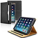 iPad 4 Cover, Premium iPad Leather Case Smart Soft Cover [Auto Wake/Sleep] Folio Flip Wallet Pocket [Magnetic Closure Stand] For iPad 2 Cover / iPad 3rd Generation Case / iPad 4th Generation Genuine Leather Case
