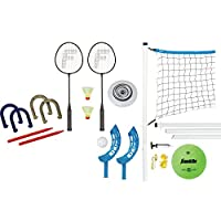 Franklin Sports Combo Set: Badminton, Volleyball, Flip Toss, Horseshoes, Flying Disc from Franklin Sports, Inc.