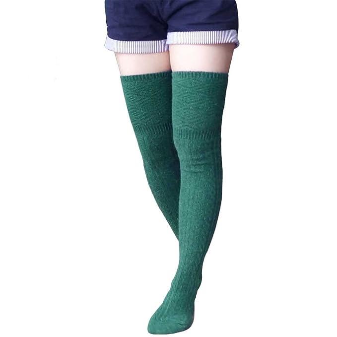1950s Socks- Women's Bobby Socks Winter Wool Knit Boot Knee High Socks Lot Leg Warmth Sock $6.99 AT vintagedancer.com