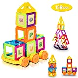 LordBee Attractive Colorful 158 pcs Magical Magnetic Construction Building Blocks Non-Toxic Harmless Plastic Magnet