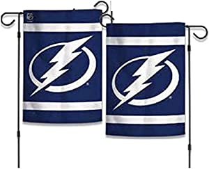 "WinCraft NHL Tampa Bay Lightning 12.5"" x 18"" Inch 2-Sided Garden Flag Logo"