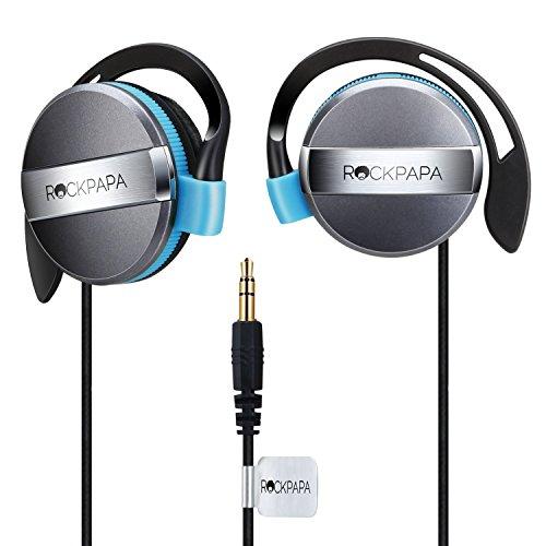 (Rockpapa On Ear Kids Childs Boys Girls Adults Earphones Headphones 3.5mm for MP3/4 DVD PC iPhone iPad iPod Tablet Black/Blue)