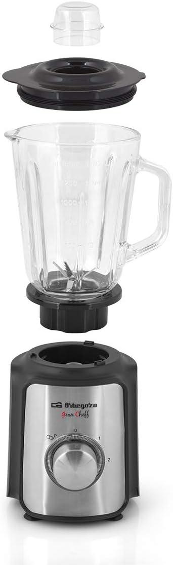 Orbegozo BV 6550 - Batidora de vaso, jarra de crital de 1,5 litros ...