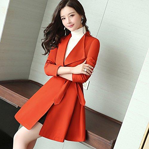 Coats Jackets amp; SCOATWWH Ladies Coats nbsp;Female Long Orange Women'S Windbreaker Aristocratic Jacket UnqFR76