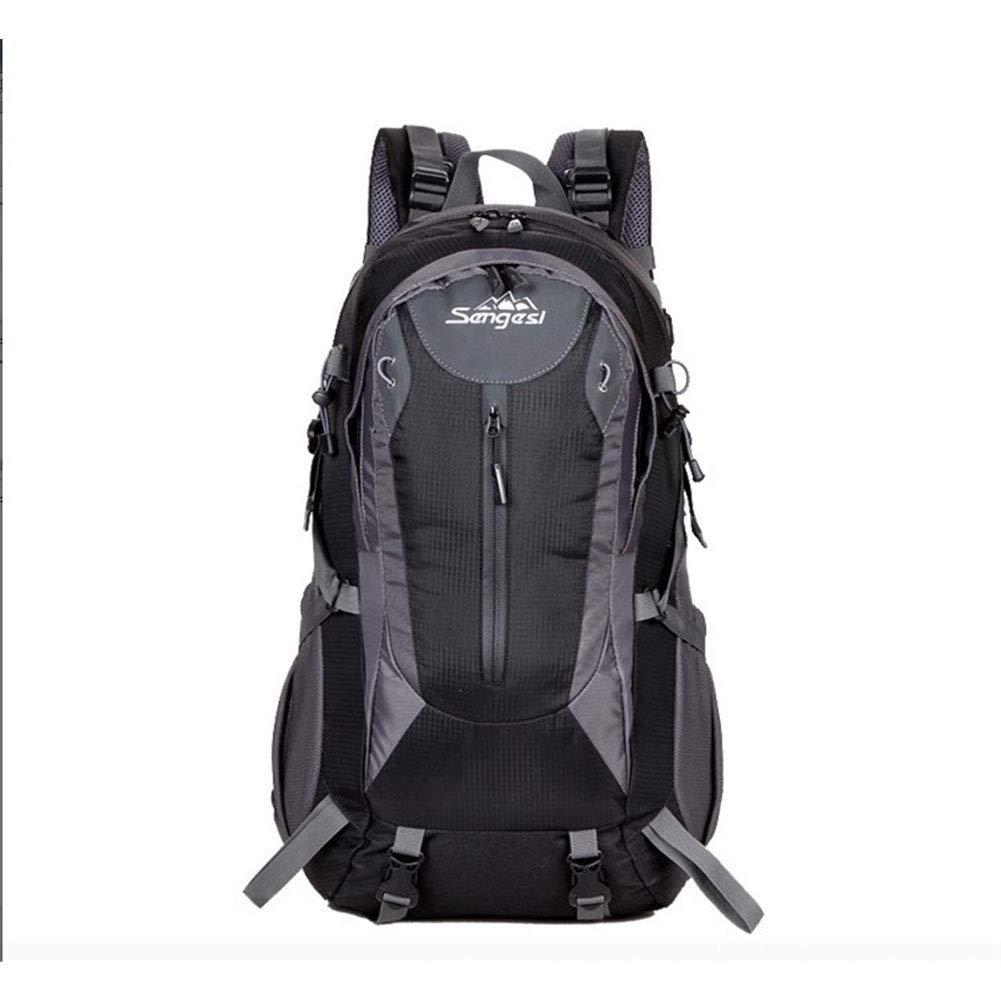 ハイキングバックパック、防水通気性リュックサック大容量ハイキングキャンピングデイパック多機能調節可能な登山バッグ 32*50*20cm Black B07LG8DM7Y