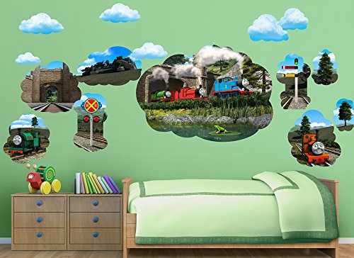 Thomas & Friends Large Mural Wall Decal Set