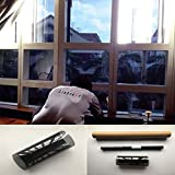 LinkedGo Smoke Black Privacy Window Tint Film 30inch10FT 35%VLT Glare Home Decorative Glass